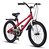 RoyalBaby Bicicletas Infantiles niña niño Freestyle BMX Ruedas auxiliares Bicicleta para niños 14 Pulgadas Rojo