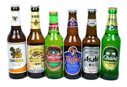 Probierpaket - ausgewählte Biere aus Asien | Geschenkset für Männer | 6x 0,33L