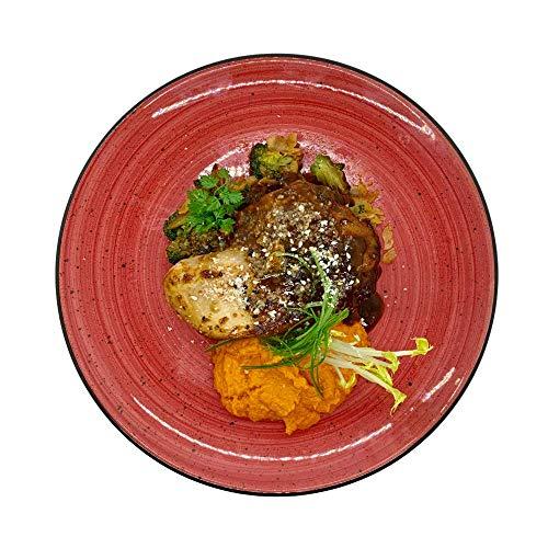 Season Family Fertiggericht Hähnchenbrust-Filet mit Karotten-Ingwer-Püree & Gemüse als Fitness Essen I Fertiggerichte für Mikrowelle oder Pfanne unter Schutzgasatmosphäre verpackt I Inhalt 450 g