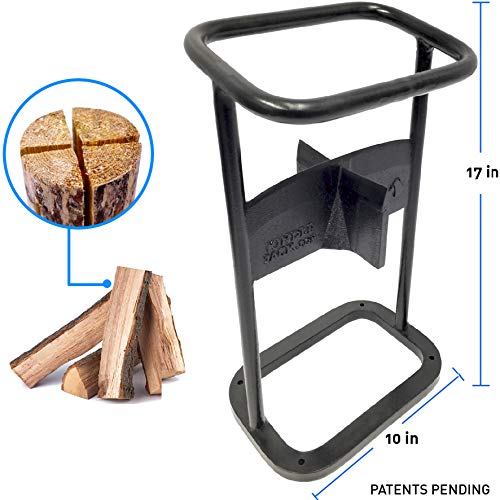 EasyGoProducts Jack Axe Wedge Firewood Kindling Tool Cuts 4 Ways Wood Log Cracker Splitter-Patent...