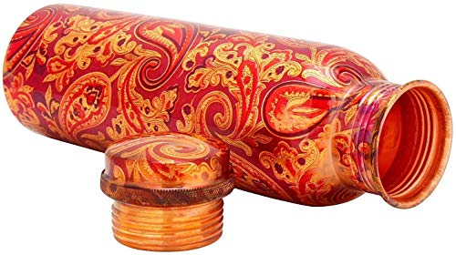 R Ayurveda Copper Copper Bottle, 1000ml, Set of 1