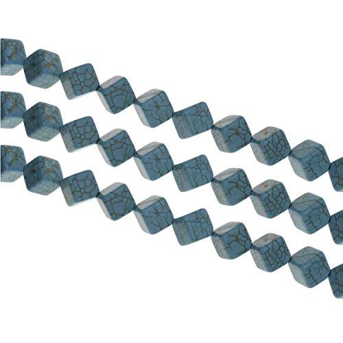 30 Turquoise pierres précieuses perles 10 mm pierre naturelle collier de perles Cube Gemstone semi pierres précieuses Strang Bijoux Perles Bijoux Pierre pour DIY Collier bricolage g944