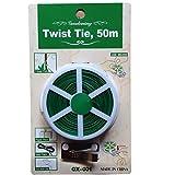 Yardwe Legame da Giardino Twist Tie Plastic Coated Filo di Ferro Garderning Wrap Cable Ties 50M (Verde)