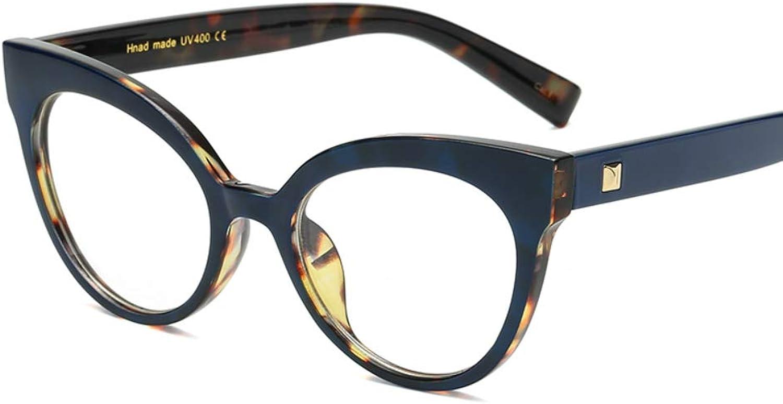 Clear Lenses Eyewear Frame Women Vintage Retro Cateye Nonprescription Glasses