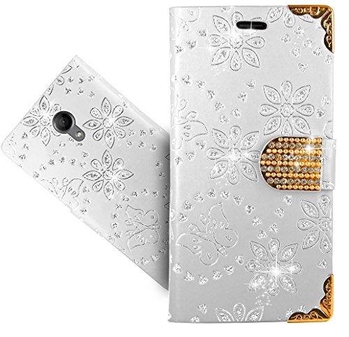 FoneExpert® Wiko Robby Handy Tasche, Bling Luxus Diamant Wallet Hülle Flip Cover Hüllen Etui Hülle Ledertasche Lederhülle Schutzhülle Für Wiko Robby