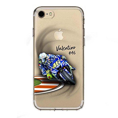 IP7 / IP8 / IPSE 2020 Cover TPU Gel Trasparente Morbida Custodia Protettiva, MotoGP Collection, Vale, iPhone 7, iPhone 8, iPhone SE 2020