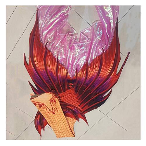 Coda da Sirena Costume da Bagno Bikini Mermaid Swimwear Sirena Coda Set Costume da Bagno con Coda a Sirena per Bambini/Adulti/Uomini/Donne/Nuoto/Fotografia/Vacanze(Color:Colore 2)