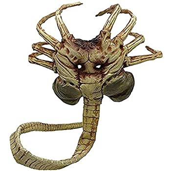 Alien Facehugger Mask Xenomorph Latex Face Hugger Mask Replica Scary Claws Insect Halloween Props For Adult Kids