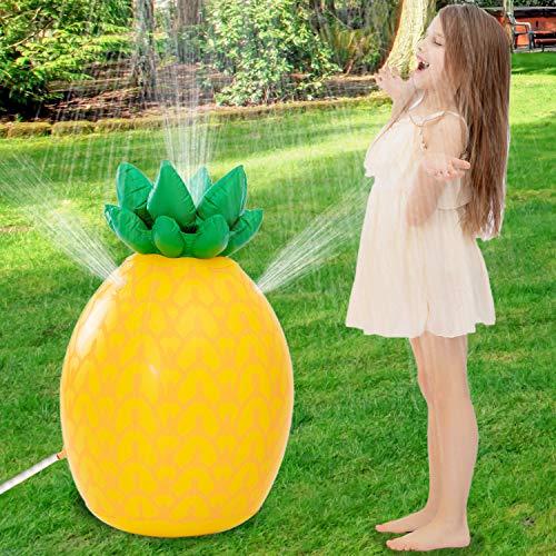 "JOYIN Inflatable Tropical Pineapple Sprinkler, 35"" Lawn Sprinkler for Kids Water Toy for Boys..."