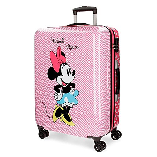 Disney 4411761 Rombos Equipaje Infantil, 55 cm, 33 litros, Rosa