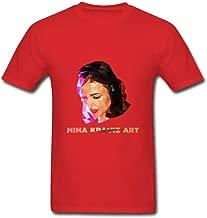 Guwmi Men's Nina Kraviz Art T Shirt Yellow S