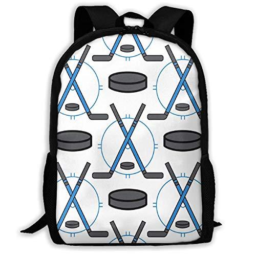 Schulrucksack Hockeyschläger Und Pucks College Daypack Prämie Schulrucksäcke Komfortabel Rucksäcke Anti-Diebstahl Kinderrucksack Für Herren Damen Jungen Mädchen