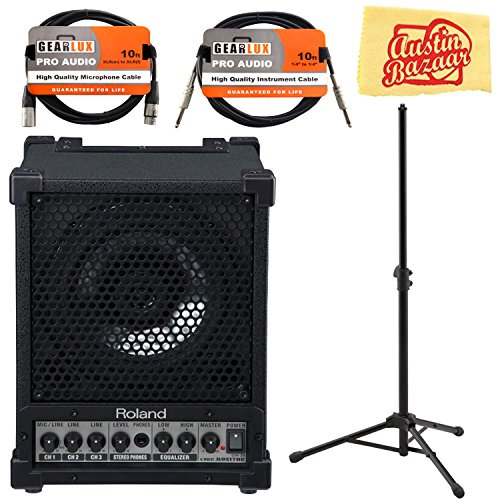 Review Of Roland CM-30 Cube Monitor Bundle with Roland ST-CMS1 Speaker Stand, XLR Cable, Instrument ...