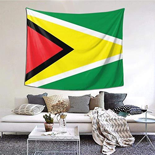 BGDFN Tapisserie/Wandbehang, Dekoration für Schlafsaal, Schlafzimmer, Wohnzimmer, College, 152,4 cm B x 101,6 cm L, Flagge von Guyana (1)