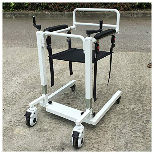 YXP Sollevatore per paziente per Servizio Pesante con Base Bassa Manuale, capacità di carico di 500 libbre, Sollevatore per Imbracatura per trasferimento paziente per disabili Anziani
