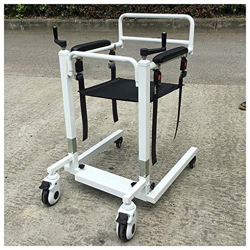 YXP Hochleistungspatientenlift mit manueller niedriger Basis, 500 Pfund Gewichtskapazität, Patiententransfer-Hebebühne für ältere Menschen mit Behinderungen