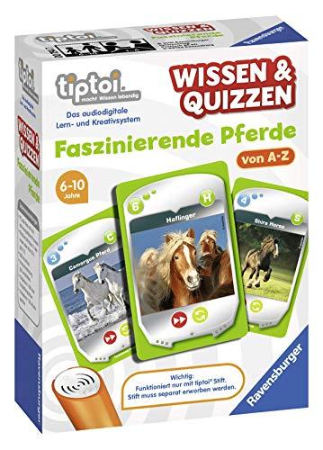 Ravensburger tiptoi 00754 Wissen und Quizzen: Faszinierende Pferde, Quizspiel für Kinder ab 6 Jahren, für 1-6 Spieler
