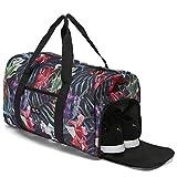 ELA Mo's - Elegante Bolsa de Deporte de Viaje con Compartimento para Zapatos, 38 litros, Equipaje de Mano Weekender, para Hombres y Mujeres, en 6 diseños de Moda, Tropical Heat, Large