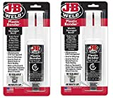 J-B Weld 50139 Plastic Bonder Body Panel Adhesive and Gap Filler Syringe - Black, 25 ml
