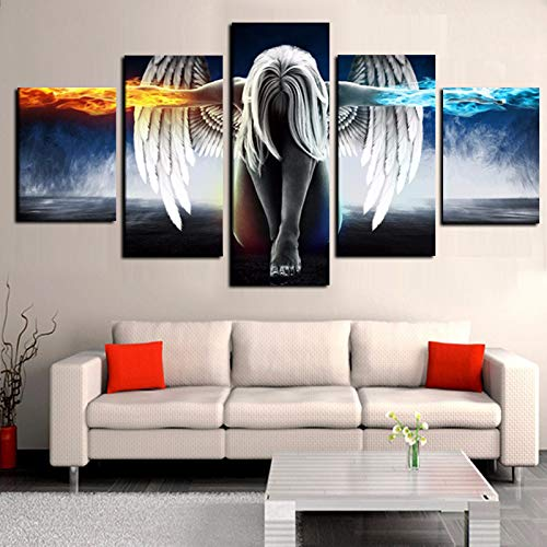 sanzangtang Rahmenlose Malerei Los Angeles Mädchen Leinwand Malerei Anime Devil Modulare Wandbildkunst HDZGQ4330 20x35cmx2, 20x45cmx2, 20x55cmx1
