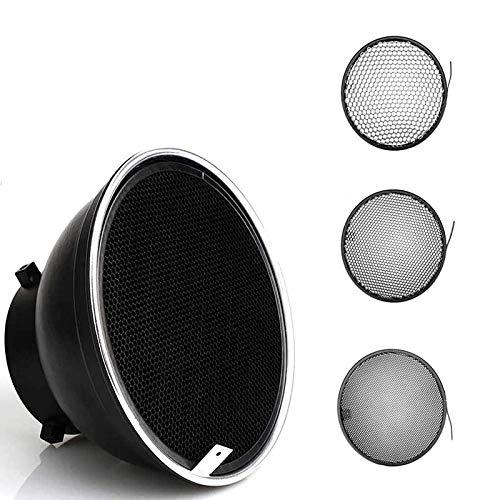 Godox Difusor reflector estándar de 18 cm con rejilla de panal de abeja 20/40/60 grados para Bowens Mount Studio luz estroboscópica flash