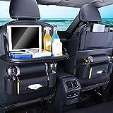 Bolsa de almacenamiento para el asiento del coche, funda de asiento de alta calidad, plegable, bandeja de comida multifunción, caja de almacenamiento