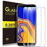 KuGi pour Samsung Galaxy J4 Plus Verre trempé, Ultra Résistant Protection écran Glass [Dureté 9H] pour Samsung Galaxy J4+ Smartphone (Pack de 2)