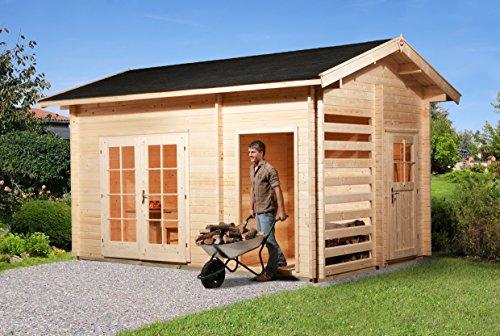 weka Gartenhaus mit Geräteraum 150, 28 mm, DT, mit...