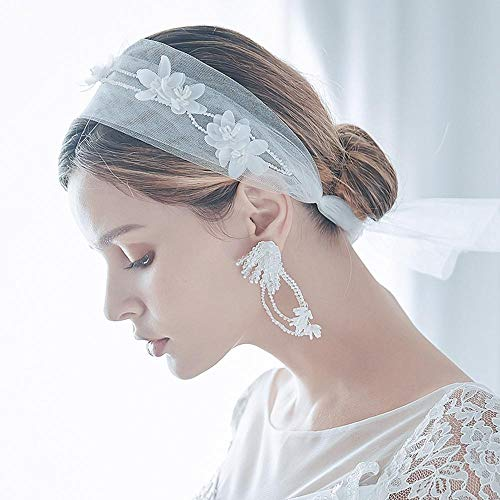 Brautschleier Ohrringe Set Foto Studio Foto Reise Hochzeitskleid Kopfschmuck Ehe Schmuck