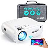 WiMiUS プロジェクター 6500ルーメン 小型 フルHD1080P WiFi画面ミラーリング Bluetooth5.0搭載 収納バッグ ホームシアター 黒い点対策 家庭用 WiFi/Bluetooth/USB/HDMI/AV/VGA対応 SWITCH/パソコン/IOS/Android/DVDなど接続可能