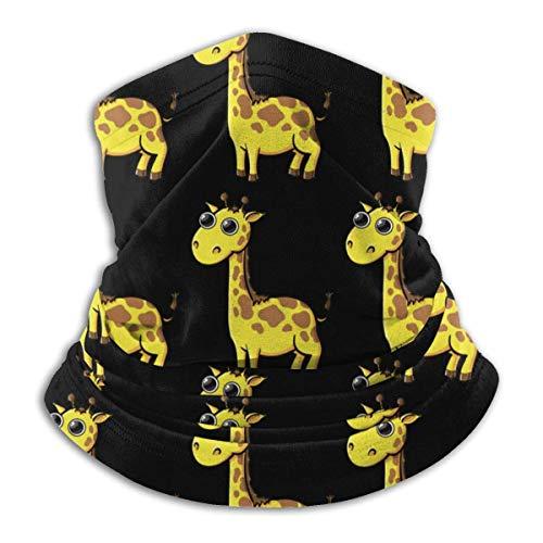 XXWKer Microfibre Chapeaux Tube Masque Visage Tour de Cou Cagoule, Giraffe Cartoon Cute Winter Hats Fleece Neck Warmer Face Neck Scarf