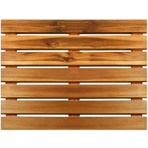 Villa Acacia Premium Wooden Bath Mat and Shower Mat, Extra Large 24' x 24'