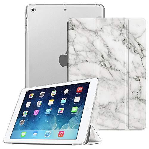 Fintie Hülle für iPad Air 2 (2014 Modell) / iPad Air (2013 Modell) - Superdünne Superleicht Schutzhülle mit Transparenter Rückseite Abdeckung mit Auto Schlaf/Wach Funktion, Marmor Weiß