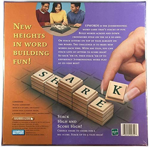 Scrabble Upwords The 3-Dimensional Word Game That Really Stacks Up! 2002 Edition