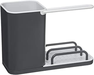 VITA PERFETTA Organisateur d'Evier - Rangement Evier - Range Éponge, Grattoir, Brosse, Liquide Vaisselle (Gris)