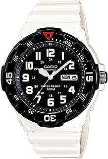 Casio Marine Men's Black Dial White Resin Band Watch - MRW-200HC-7BV