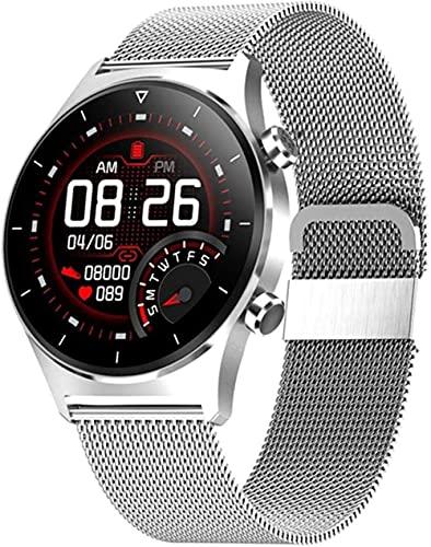 XYJ E13 - Reloj inteligente deportivo para hombre con múltiples modos de deporte, compatible con reloj inteligente táctil completo con podómetro, teléfono iOS Android (color: E)