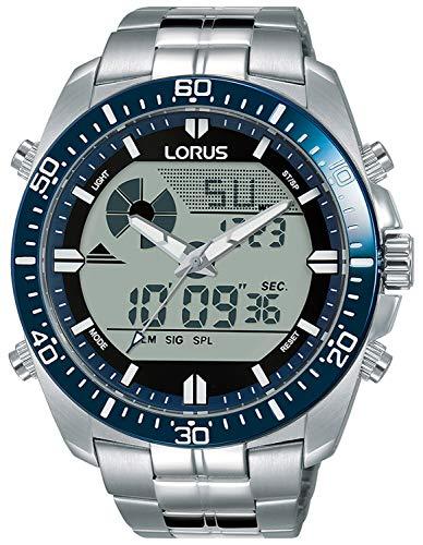 Lorus Digital Man Reloj para Hombre Digital de Cuarzo con Brazalete de Acero Inoxidable R2B01AX9