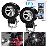 Motorcycle Driving Lights,10W 2inch SPOT LED Fog Lights for Harley Yamaha Motorbike Accent Off Road Lighting