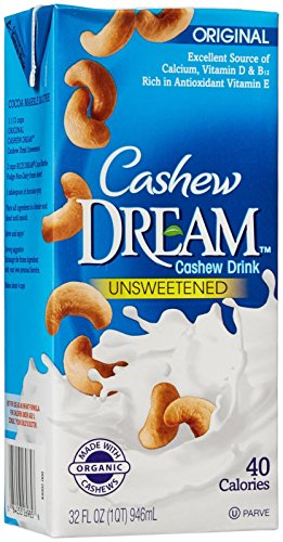Dream Cashew Drink-Unsweetened Original Enriched-32 Ounces