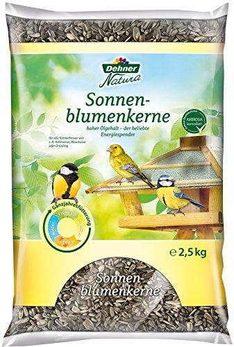 Dehner Natura - Comida para pájaros Silvestres, Semillas de Girasol
