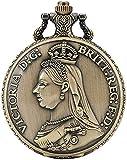 Cadena de reloj de bolsillo Reina única Victoria del Reloj de bolsillo Patrón Reino Unido para Hombres Conciso Conciso Blanco Dial Blanco Relojes de bolsillo para mujer Para hombres mujeres regalo