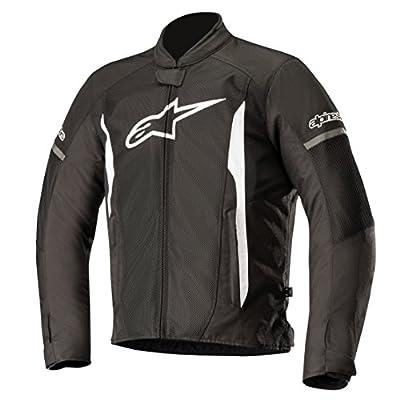 Alpinestars Men's T-Faster Air Motorcycle Jacket, Black/White, Large