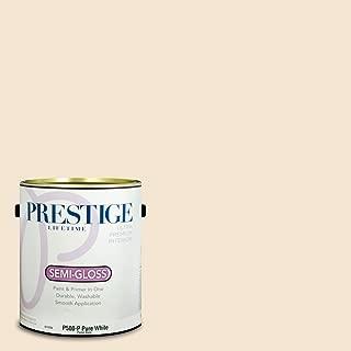 Prestige Paints P500-P-SW6364 Interior Paint and Primer in One, 1-Gallon, Semi-Gloss, Comparable Match of Sherwin Williams Eggwhite, 1 Gallon, Egg White