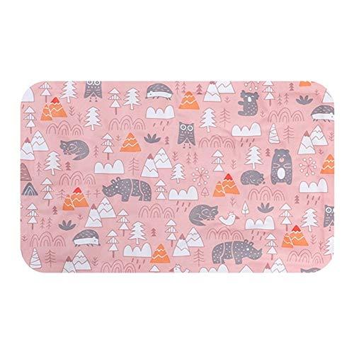 Kühl Eisauflage Hund Katze Sommer wasserdicht Nette Haustiermatte nach Hause weich und Portable (Color : Pink, Size : S)
