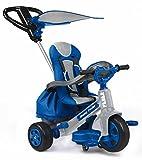 FEBER- Triciclo de paseo Infantil, para niños de 1 a 3 años, Color azul (Famosa 800009780)