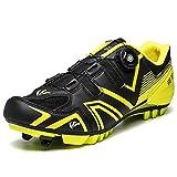 QSMGRBGZ Zapatos de Ciclismo, Zapatos para Bicicletas de montaña de Damas MTB, Racing al Aire Libre, Racing Unisex, Suela de Goma Resistente al Desgaste, Plantilla cómoda,Negro,38 EU