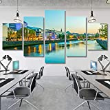 【★The Home Art Canvas Painting Size】total size: 150x80cm (30x40cm * 2 30x60cm * 2 30x80cm * 1)5pcs canvas prints describe mindset is everything decor picture, The image is just for displaying, please measure your place before purchase ,We also provid...