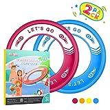 Tesoky Juguetes Niños 4-12 Años, Flying Disks Juguetes al Aire Libre Juegos para Niños de 4-12 Años Mejor Regalo de Cumpleaños Regalo Niños 4-12 Años Rojo-Azul
