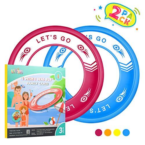 Tesoky Spielzeug ab 4-12 Jahren für Jungen,Spielzeug Mädchen 4 5 6 7 8 Jahre Strandspielzeug Kinder Geschenke für Jungen ab 4-12 Flying Disc Im Freien Spielzeug Junge 4-12 Jahre Blau-Rot